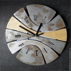 """Часы для дома ручной работы. Ярмарка Мастеров - ручная работа. Купить часы настенные """"13-й час"""" металл 2. Handmade."""