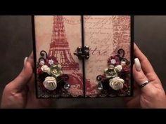 Tutorial accordeon Mini Album ( graphic 45 Botanical Tea ) - YouTube