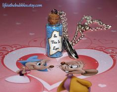 Cinderella So This is Love Magical Necklace by LifeistheBubbles