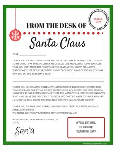 Santa claus letterhead will bring lots of joy to children letters tofrom santa free printables letters to santa letters from santa spiritdancerdesigns Image collections