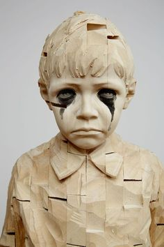 Gerard Demetz, Sculptures. Wooden sculptures of children created...