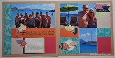 Caribbean Cruise Scrapbook Layouts www.fancymelissa.com #ctmh #claire #fancymelissa