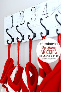 Easy Numbered Christmas Stocking Hanger (a fun Silhouette project) | Simply Kierste