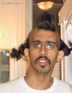 I feel pretty - weird haircut, weird man, man with ponytails,weird hair