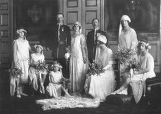charles james wedding gowns | Group wedding portrait after the marriage of HH Princess Maud of Fife ...