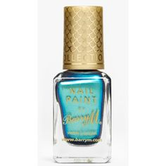 Barry M Aquarium Effects Nail Polish (21 ZAR) ❤ liked on Polyvore featuring beauty products, nail care, nail polish, nails, beauty, makeup, pacific blue, barry m nail polish, barry m nail varnish and mirror nail polish