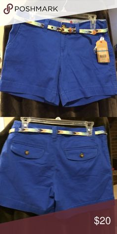 Red Camel Shorts / NEW Great blue shorts with cute belt :) Red Camel Shorts