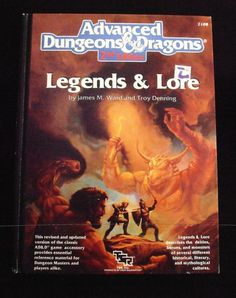 Legends & Lore Advanced Dungeons & Dragons 2nd Edition - 8+ out of 10!
