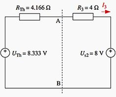 The left side of the circuit can now be substituted by its Thévenin equivalent