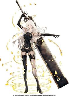 View an image titled (YoRHa Type A Art' in our Star Ocean: Anamnesis art gallery featuring official character designs, concept art, and promo pictures. Female Character Concept, Female Character Design, Character Design Inspiration, Character Art, Anime Art Girl, Manga Girl, Female Characters, Anime Characters, Funny Anime Pics