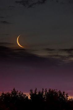 The Golden Crescent (two day old moon seen after sunset) by Luis Argerich