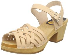 swedish hasbeens Women's Braided High Heeled Sandal ^^ For more information, visit now : Strappy sandals
