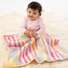 Lion Brand® Ice Cream Suffolk Baby Crochet Afghan