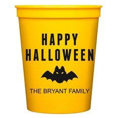 Happy Halloween Bat Stadium Cups