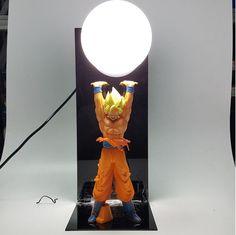 Dragon Ball Genki Dama Spirit Bomb Super Saiyan Son Goku DIY Lamp. #DragonBall #GenkiDama #SpiritBomb #SuperSaiyan #Son #Goku #DIY #Lamp
