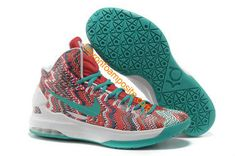 the latest 80d19 2eca2 2013 Womens KD V Christmas Digital Turquoise University Red White Nike Shoes  Outlet, Basketball Stuff