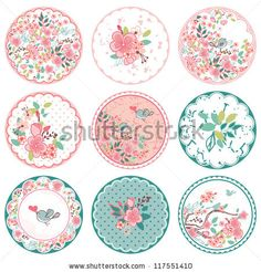 Find Blooming Circle Tags stock images in HD and millions of other royalty-free stock photos, illustrations and vectors in the Shutterstock collection. Decoupage Vintage, Printable Stickers, Planner Stickers, Free Printable, Images Victoriennes, Diy And Crafts, Paper Crafts, Floral Printables, Bottle Cap Images