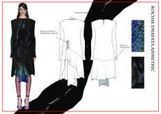 madalina buzas on Behance Fashion Sketch Template, Dress Design Drawing, Fashion Design Portfolio, Technical Drawing, Fashion Sketches, Designs To Draw, Creative Design, Designer Dresses, Behance