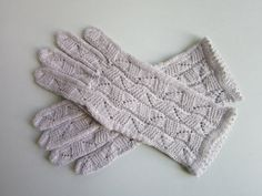 Knitted Hand Gloves Light Gray Lace Gloves Wool Lace Gloves Fashion Gloves Womens Wool Gloves