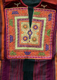Sunbula.org – Palestinian fair trade handicrafts - Craft Traditions of Palestine (Tahriri - couching stitch embroidery)