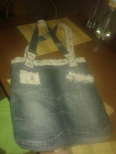 Nákupní taška z riflí