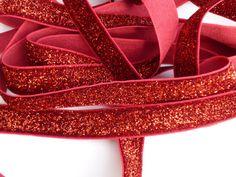 5 Yards 5/8 Red Glitter Elastic by wholesaleflowers on Etsy, $6.00