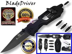 Knife Multi Tool Survival Screwdriver LED Light Pocket Gear Camping Outdoor New from Holtzman's Gorilla Survival Survival Knife, Survival Gear, Survival Skills, Survival Equipment, Survival Weapons, Survival Stuff, Survival Prepping, Best Multi Tool, Gadgets