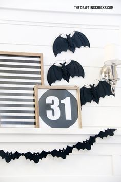 Halloween Mantle Prints | Halloween Prints for your Halloween Mantle Decor. Easy prints and display ideas for an adorably spooky Halloween Mantle! Halloween Prints, Halloween Home Decor, Halloween House, Spooky Halloween, Halloween Decorations, Hanging Fabric, Simple Prints, Holidays With Kids, Fall Diy