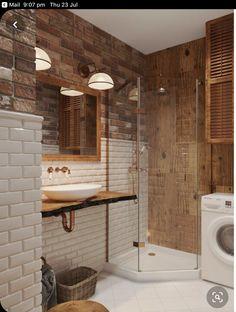 Diy Bathroom, Modern Bathroom, Small Bathroom, Master Bathroom, Brick Bathroom, Bathroom Ideas, Bathroom Designs, Bathroom Storage, Bathroom Inspiration