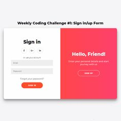 Sign in/up Form Slider - Nice Concept and Transitions - Coding - Fribly - Sign in/up Form Slider Coding Animation Code CSS Form HTML Javascript Resource Sign in S - Form Design Web, Login Page Design, Layout Design, Graphisches Design, Web Design Tips, Design Model, Webdesign Inspiration, Website Design Inspiration, Slider Design