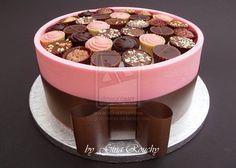 Pink Chocolate Box Cake by ginas-cakes.deviantart.com on @deviantART