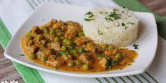 Dusené teľacie na rasci s mrkvou a hráškom - Tinkine recepty