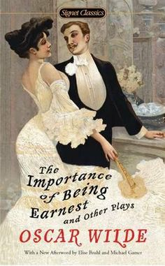 The Importance of Being Earnest book cover. Oscar Wilde.