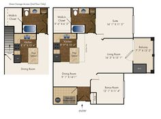 One Bedroom with a Bonus Room  *Second & Third Floor Only *Direct Access Garage Included with Second Floor Homes