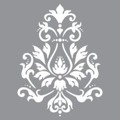 Create vintage style home decor pieces using Americana Decor Stencils and Chalky Finish Paint. These stencils work well on furniture as well as on smaller decorative items. Each stencil measures x Damask Stencil, Stencil Patterns, Stencil Designs, Tree Stencil, Chalky Finish Paint, Graphisches Design, Graphic Design, Mandala Stencils, Sign Stencils