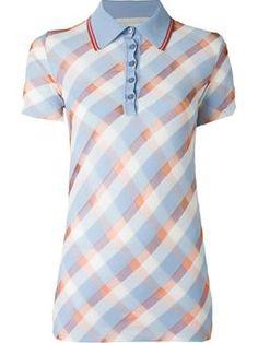 transparent checks polo shirt $676 #Farfetch #love #DesigerClothing