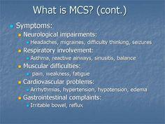 MCS ~ Multiple Chemical Sensitivity ~ Symptoms