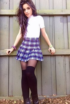 """Plaid skirt and cute top? Fifth Harmony's Camila Cabello wears it just as well nowadays as Tai did in the movie. 