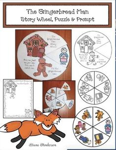 Click the PREVIEW to see samples..Do you read The Gingerbread Man story in December?  If so, I think you'll enjoy this Gingerbread Man Story Wheel. It's a quick, easy & fun way to assess comprehension and practice sequencing, as well as retelling a story.