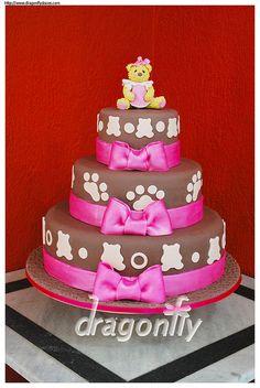 Bear Cake for Girls - Bolo de Ursinha para Meninas by Dragonfly Doces, via Flickr