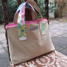 große Tasche für Wickelunterlage, Windeln von by Alena Senn auf DaWanda.com
