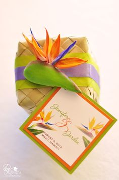 DK Designs: Bird of Paradise Themed Wedding Wedding Favours, Wedding Gifts, Wedding Stuff, Party Favors, Dream Wedding, Happy Birthday Brother Funny, Bird Of Paradise Wedding, Maui Weddings, Wedding Officiant