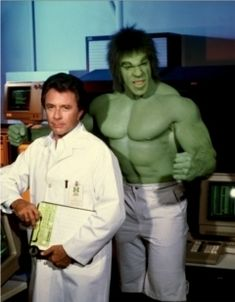 """When I was a child my favorite super hero wasn't Superman or Batman. My favorite superhero was HULK! On """"The Incredible Hulk"""" TV show from the late Bruce Banner would get into a c… Banner Hulk, Bruce Banner, Dr Banner, Jean Vincent Placé, Le Clan Des Siciliens, Incredible Hulk Tv, Marvel Comics, Hulk Marvel, Ms Marvel"""