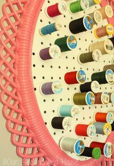 Thread Storage Roundup - A girl and a glue gun