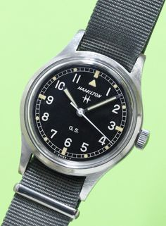 HAMILTON G.S. Vintage Military Watches, Vintage Watches, Field Watches, Men's Watches, Watches For Men, Nato Strap, Todd Snyder, Image Collection, Omega Watch