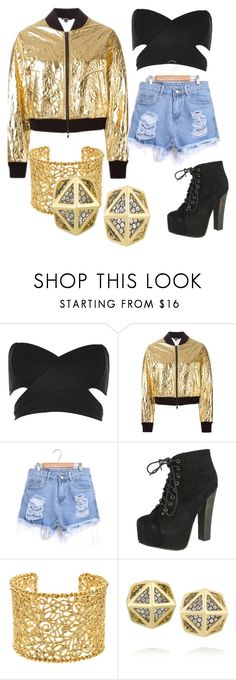 """Cher Lloyd inspired outfit  in Music Video I wish"" by nadinebernadettetaladtad ❤ liked on Polyvore featuring River Island, DKNY, Breckelle's, Brooks Brothers and Noor Fares"