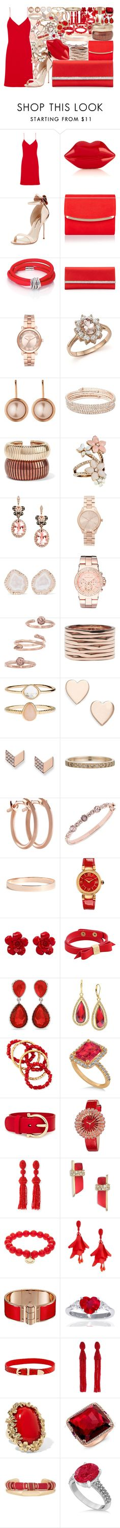 """""""Untitled #3904"""" by brooke-evans12 ❤ liked on Polyvore featuring Calvin Klein Collection, Lulu Guinness, Sophia Webster, Monsoon, de Grisogono, Judith Leiber, Michael Kors, Bloomingdale's, Dyrberg/Kern and Anne Klein"""
