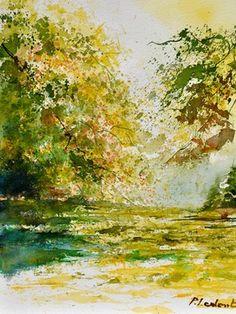 "Saatchi Art Artist Pol Ledent; Painting, ""watercolor 116050"" #art"