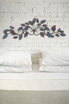 Metal Wall Decor - Blue/Brown - 10 x 35 x 2