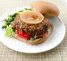 quinoa mushroom burger